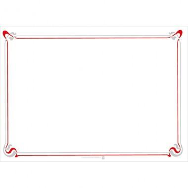 Papier Tischset 31x43cm weiß/rot/grau