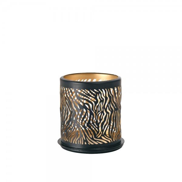 DUNI Kerzenhalter aus Metall 75 x 75 mm Safari Zebra