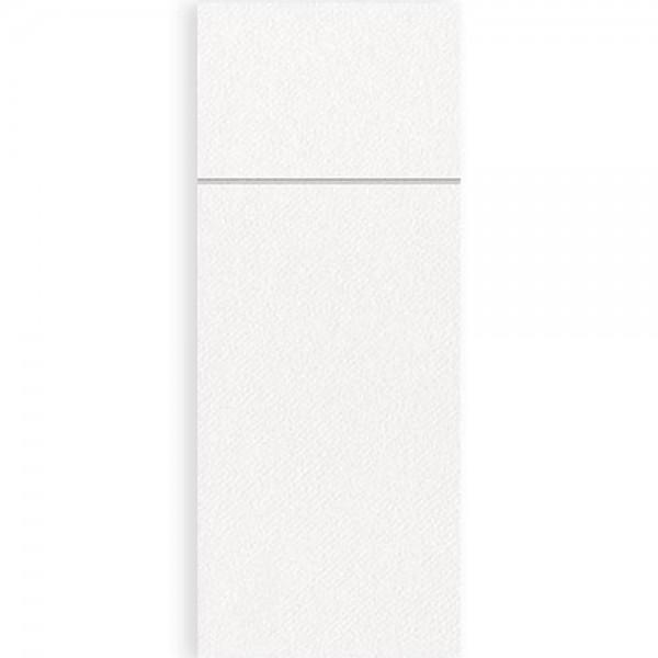 Serviettentasche Airlaid UNI 8x20 cm Weiß
