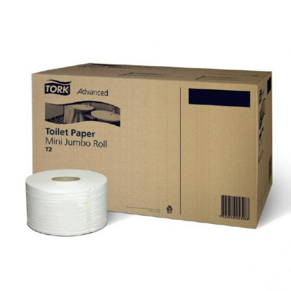 Toilettenpapier Mini Jumbo 2-lagig weiß 120280