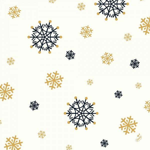 DUNI Zelltuch Serviette 40x40cm 1/4F.Snowflake White