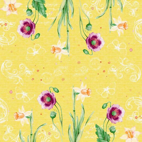 DUNI Klassik Serviette 40x40cm 1/4F. Spring Lilies