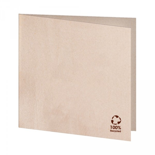 Serviette 100% Recycling Material 33x33cm 1/4 Falz