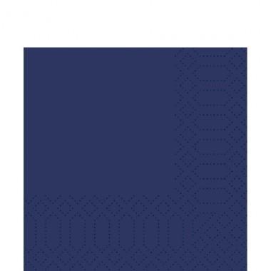 Fasana Zelltuch Serviette 33x33cm 1/4F. royal blau