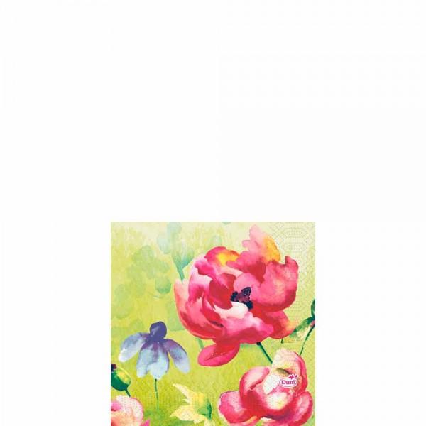 DUNI Zelltuch Serviette 24x24cm 1/4F. Garden Joy