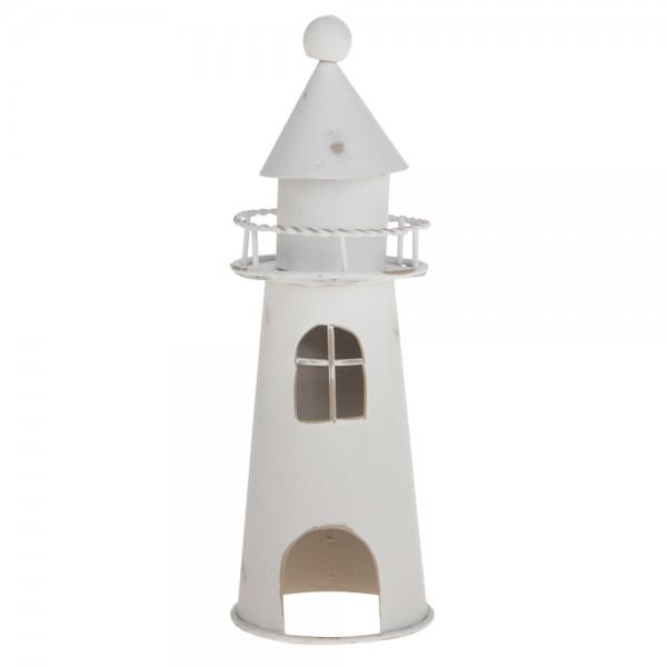 Leuchtturm Maritim 5x5x14.5 weiß/used