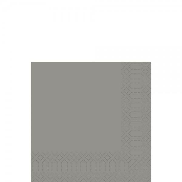 DUNI Zelltuch Serviette 33x33 cm 1/8F. granite grey