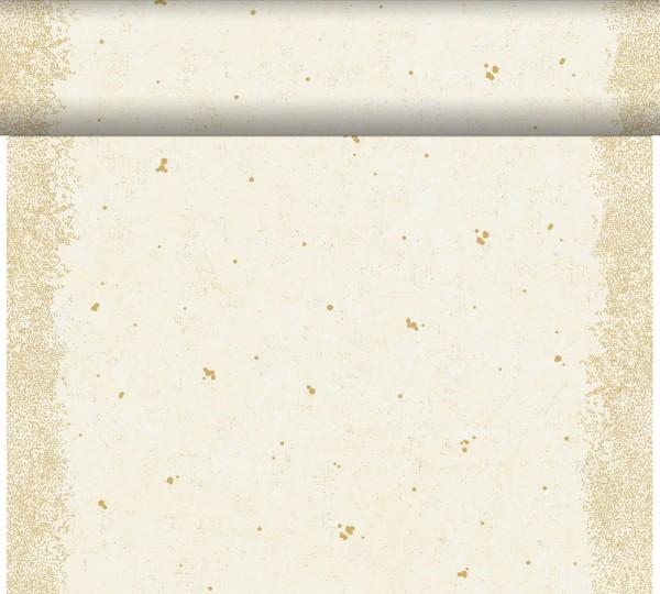 DUNI Tete-A-Tete Tischläufer Celebrate White