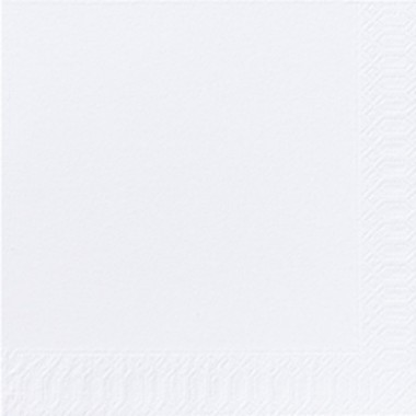 Fasana Zelltuch Serviette 33x33cm 1/4F. weiß