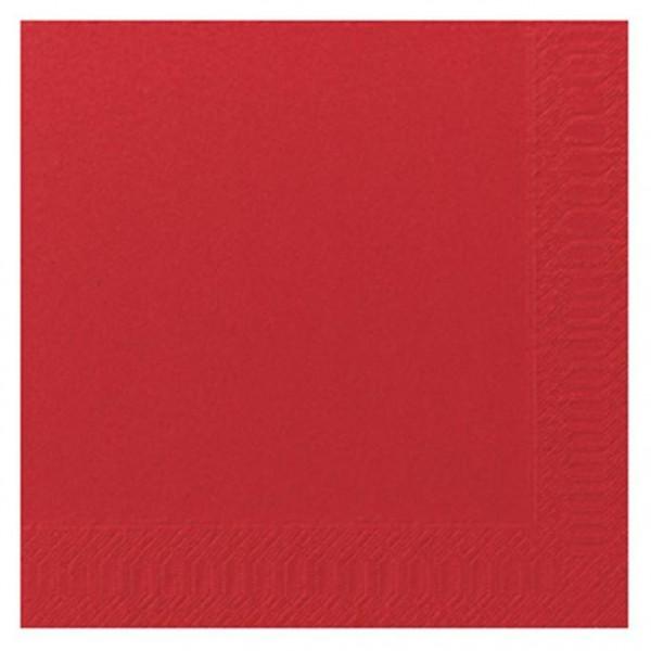 DUNI Zelltuch Serviette 40x40 cm 1/4F.rot