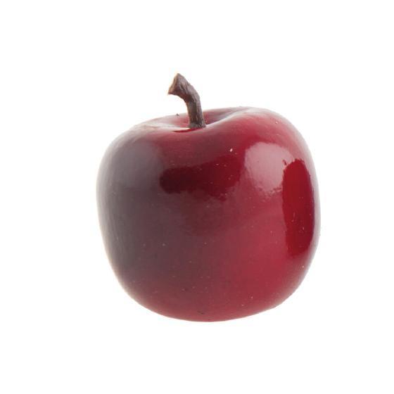 Deko Apfel 4,5cm glänzend rot