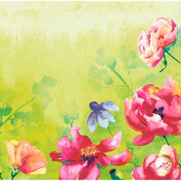DUNI Dunisoft Serviette 40x40 cm 1/4F. Garden Joy