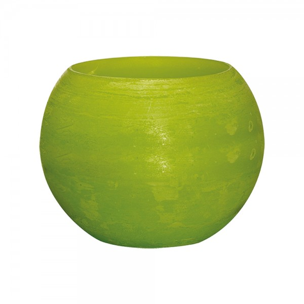 Wachswindlicht Rustik Höhe11 cm Ø 15cm Lemon