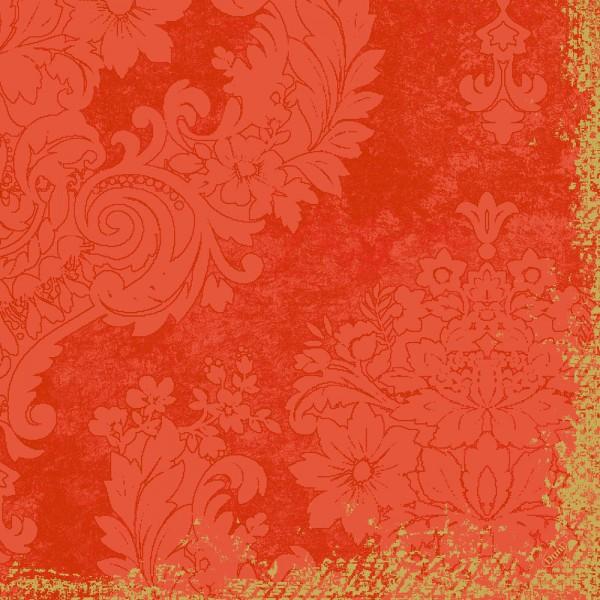 DUNI Klassik Serviette 40x40 cm 1/4F.Royal Mandarin