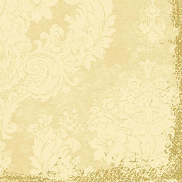 DUNI Zelltuch Serviette 40x40 cm 1/4F. Royal Cream