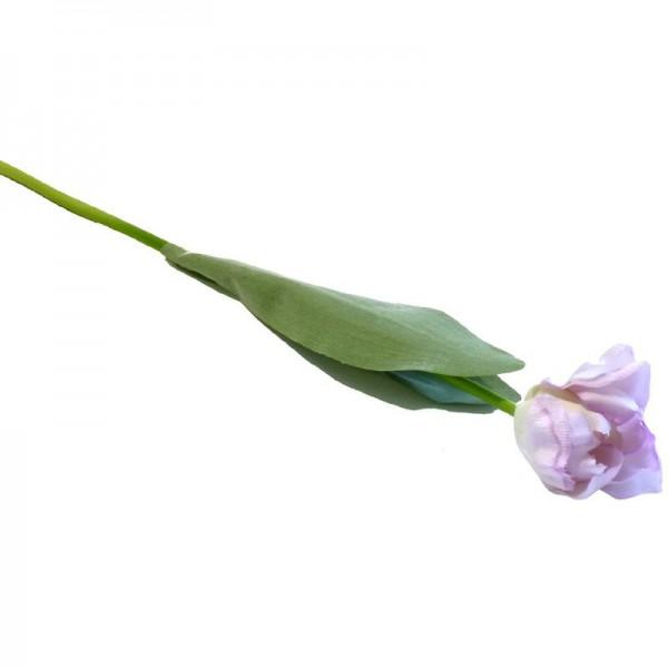 Deko-Tulpe 46cm flieder/grün