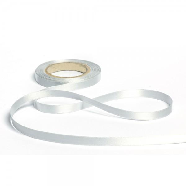 Geschenkband mit Druck 15mm breit 100 Meter hellgrau