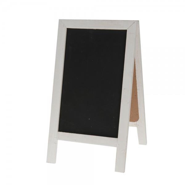 Tischtafel 18x32 cm weiß/schwarz