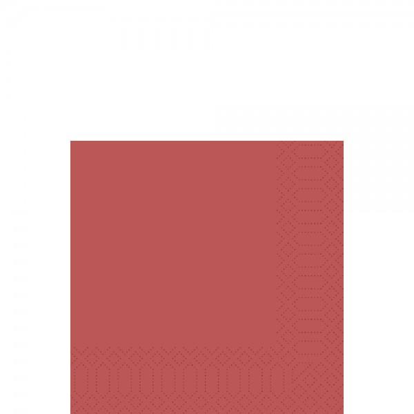 DUNI Zelltuch Serviette 33x33 cm 1/4F. bordeaux