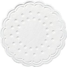 Tassendeckchen rund Ø 7,5 cm weiß