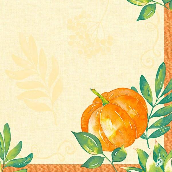DUNI Dunisoft Serviette 40x40 cm 1/4F.Pumkin Spice