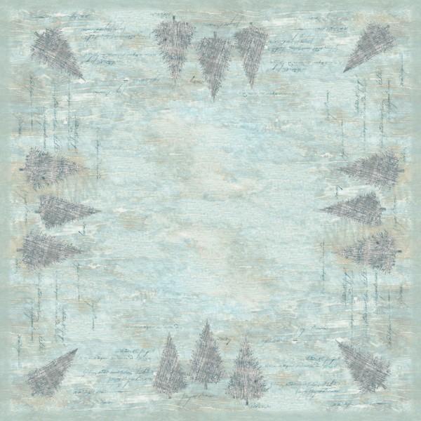 DUNI Mitteldecke 84x84cm Blue Winter