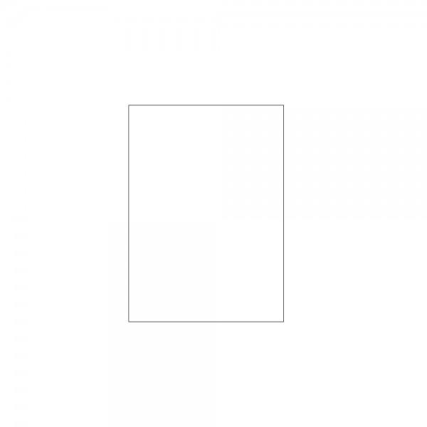 Kraftpapier weiß gebleicht 1/8 Bogen