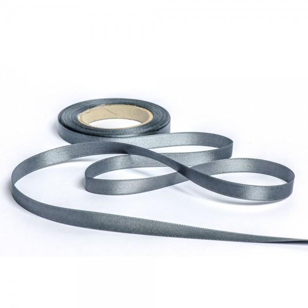 Geschenkband mit Druck 15mm breit 100 Meter dunkelgrau