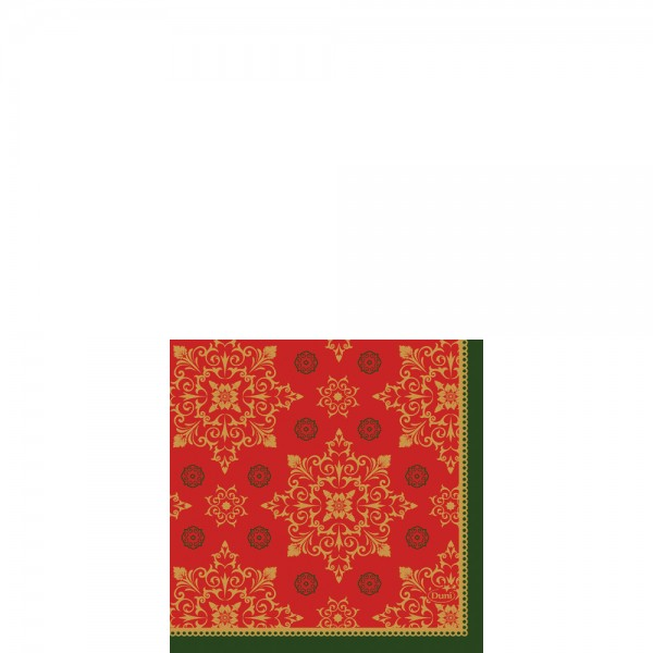 DUNI Zelltuch Serviette 24x24cm 1/4F.XMAS Deco Red