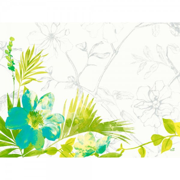DUNI Tischset Papier 30 x 40 cm Summertime Blue