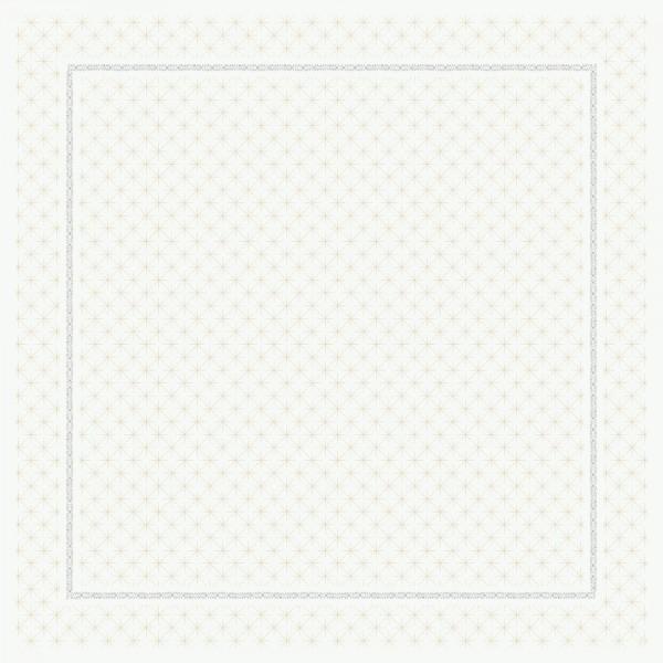 DUNI Mitteldecke 84x84cm Glitter White