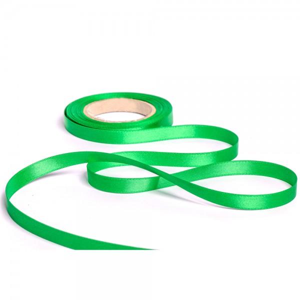 Geschenkband mit Druck 15mm breit 100 Meter grün