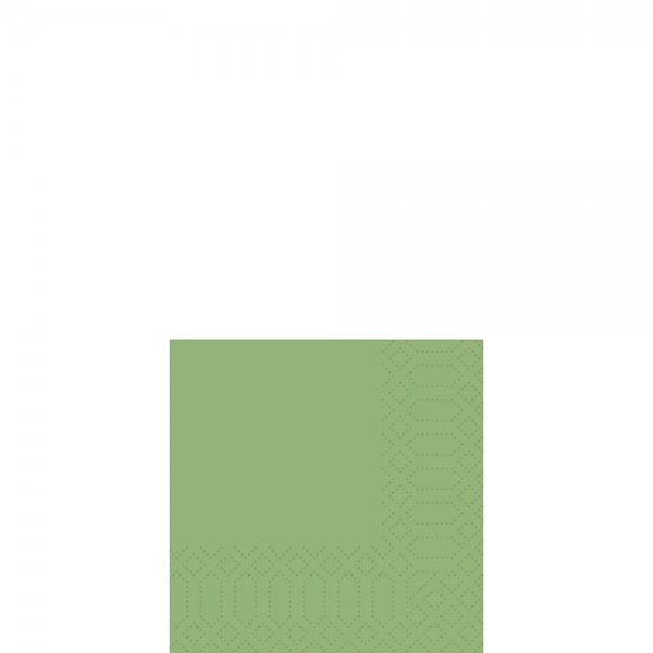 DUNI Cocktailserviette 24x24 cm 3-lagig leaf Green