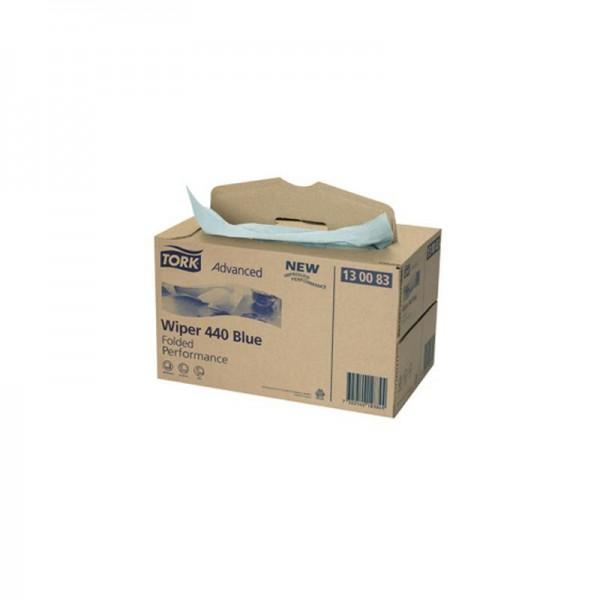 Reinigungstücher 3 lagig blau TORK 130083