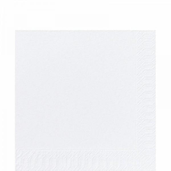 DUNI Zelltuch Serviette 33x33 cm 1/4F. weiß