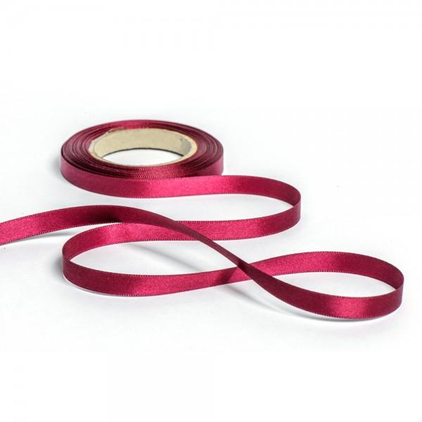 Geschenkband mit Druck 10mm breit 100 Meter brombeere