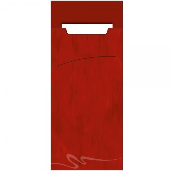 Bestecktasche Sacchet 85 x 200 mm Marble Bordeaux