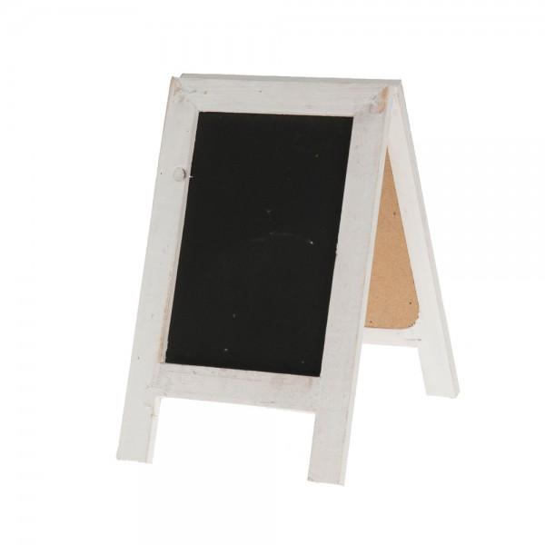 Tischtafel 14x22,5cm weiß/schwarz