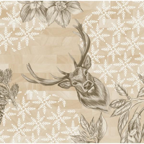 DUNI Dunisoft Serviette 40x40 cm 1/4F.Wild Deer