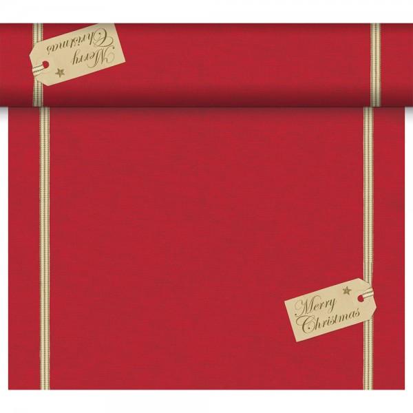 DUNI Tete-A-Tete Tischläufer Christmas Gift Red