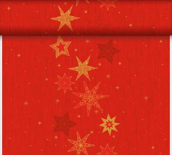 DUNI Tete-A-Tete Tischläufer Star Stories Red