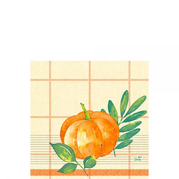 DUNI Zelltuch Serviette 33x33 cm 1/4F.Pumkin Spice
