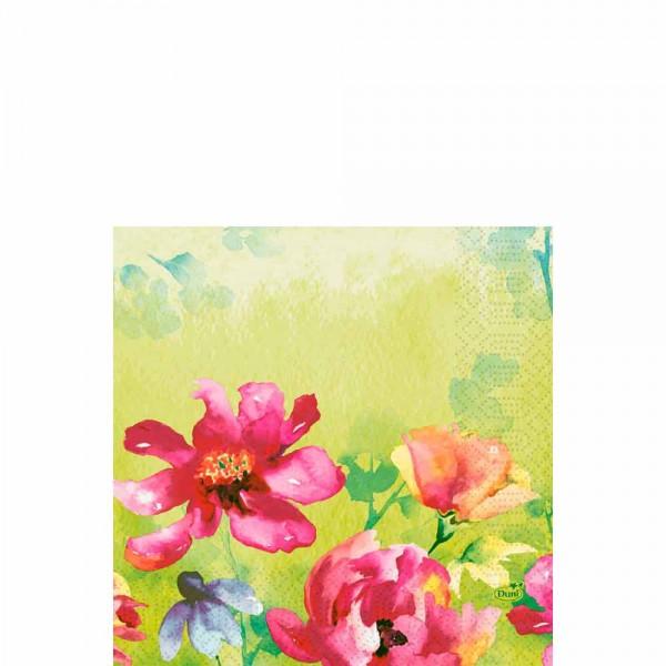 DUNI Zelltuch Serviette 33x33 cm 1/4F. Garden Joy