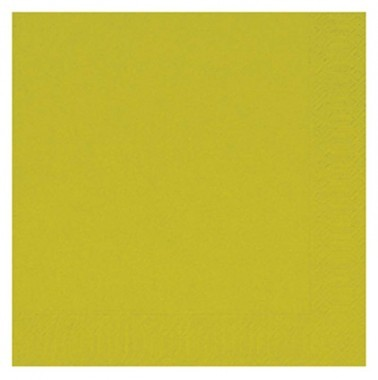 Fasana Zelltuch Serviette 33x33cm 1/4F. Lime Green