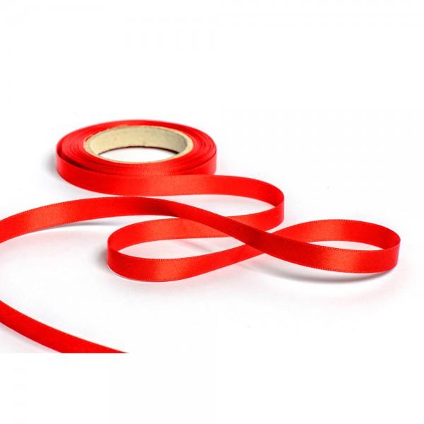Geschenkband mit Druck 15mm breit 100 Meter rot