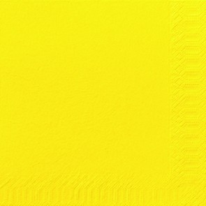 Fasana Zelltuch Serviette 33x33cm 1/4F. gelb