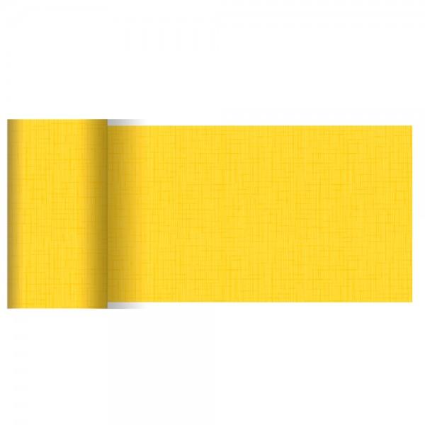 DUNI Tischläufer Linnea gelb