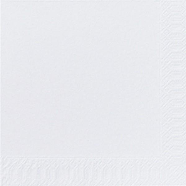 Fasana Zelltuch Serviette 40x40cm 1/4F. weiß