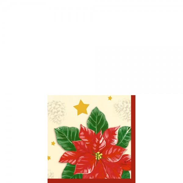 DUNI Zelltuch Serviette 24x24cm 1/4F.Flores