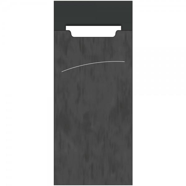 Bestecktasche Sacchet 85 x 200 mm Marble Anthrazit